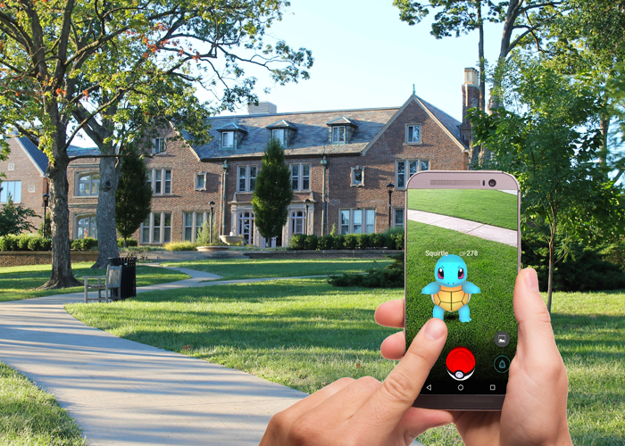 Digital trends: Pokemon player using smartphone to find Pokemon